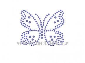 ZM048 motýl hot fix nažehlovací potisk na tričko, textil hot fix kamínky