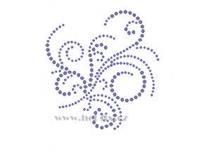 A093 abstraktní motiv nažehlovací potisk na textil hot fix kamínky