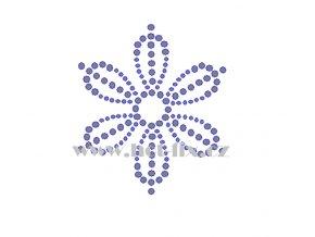 O039 ornament nažehlovací kamínková aplikace na tričko, textil hot fix kameny
