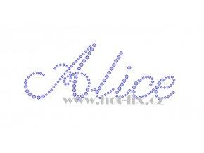 Alice nažehlovací kamínková aplikace na textil hot fix kameny