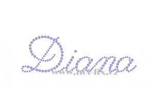 Diana jména nažehlovací kamínková aplikace na textil hot fix kameny