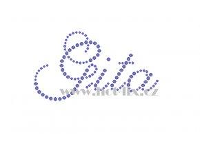 Gita jména nažehlovací kamínková aplikace na textil hot fix kameny