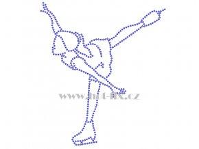 C152 krasobruslařka krasobruslařka hot fix nažehlovací potisk na tričko, textil pro krasobruslaře hot fix kamínky