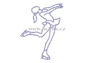 C153 krasobruslařka krasobruslařka hot fix nažehlovací potisk na tričko, textil pro krasobruslaře hot fix kamínky