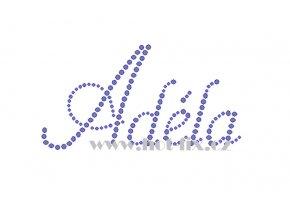 Adéla jméno nažehlovací potisk nažehlovací kamínkový aplikace na textil hot fix kameny