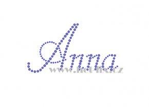 Anna jméno nažehlovací aplikace nažehlovací kamínkový potisk na textil hot fix kameny