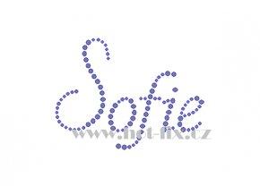 Sofie jména nažehlovací potisk nažehlovací kamínkový aplikace na textil hot fix kameny