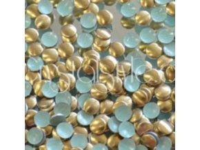 hot-fix kovové kamínky barva 35 HNĚDÁ - sada 4x100ks (balení 2, 3, 4 a 5mm po 100ks)