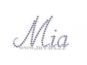 Mia jméno nažehlovací aplikace nažehlovací kamínkový potisk na textil hot fix kameny