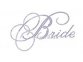 SVAT023 verze C Bride nevěsta hot fix nažehlovací aplikace na tričko, textil na párty pro nevěstu hot fix kameny
