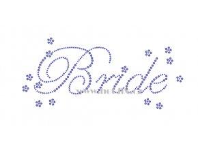SVAT058 Bride hot fix nažehlovací potisk na tričko, textil na párty pro budoucí nevěstu nažehlovací hot fix kameny