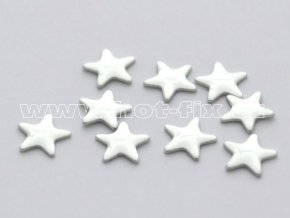 hvězda 5mm stříbrná hot fix kovové kameny na textil
