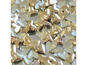 hot-fix kovové SRDCE barva ZLATÁ, velikost 6x6mm, balení 100 nebo 500ks
