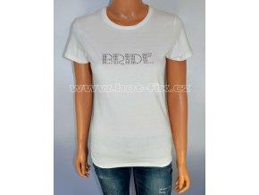 9 A Bride tričko pro nevěstu předsvatební párty a rozlučku se svobodou hot fix kamínky
