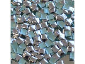 hot-fix kovový ČTVEREC barva STŘÍBRNÁ, velikost  7x7mm, balení 100 nebo 500ks