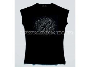 09 Střelec tričko znamení zvěrokruhu znamení střelec hot fix kamínky rozptyl