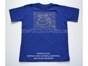 08 Štír dětské tričko s hot fix kamínky znamení zvěrokruhu Štír