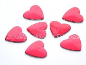 srdce 9x10mm tmavě červená nažehlovací hot fix kameny na textil