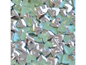 hot-fix kovové SRDCE barva STŘÍBRNÁ, velikost 9x10mm, balení 100 nebo 500ks