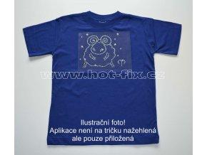 01 Beran dětské tričko s hot fix kamínky znamení zvěrokruhu Beran