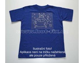 02 Býk dětské tričko s hot fix kamínky znamení zvěrokruhu Býk