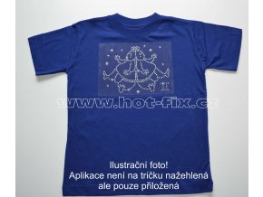 03 Blíženci dětské tričko s hot fix kamínky znamení zvěrokruhu Blíženci