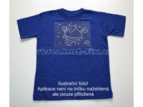 04 Rak dětské tričko s hot fix kamínky znamení zvěrokruhu Rak