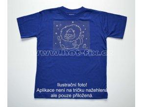 05 Lev dětské tričko s hot fix kamínky znamení zvěrokruhu Lev