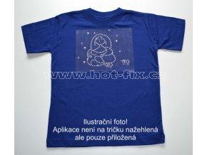 06 Panna dětské tričko s hot fix kamínky znamení zvěrokruhu Panna