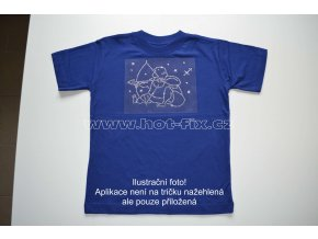 09 Střelec dětské tričko s hot fix kamínky znamení zvěrokruhu Střelec