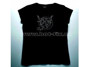 02 Býk dámské tričko s hot fix kamínky znamení zvěrokruhu Býk