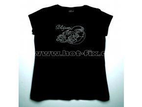 03 Blíženci dámské tričko s hot fix kamínky znamení zvěrokruhu Blíženci