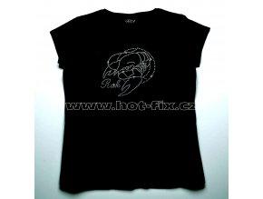 04 Rak dámské tričko s hot fix kamínky znamení zvěrokruhu Rak