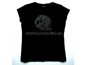 05 Lev dámské tričko s hot fix kamínky znamení zvěrokruhu Lev