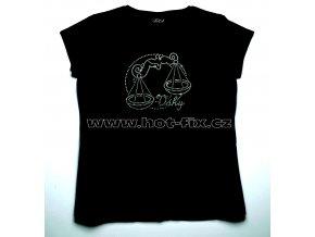 07 Váhy dámské tričko s hot fix kamínky znamení zvěrokruhu Váhy