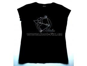 09 Střelec dámské tričko s hot fix kamínky znamení zvěrokruhu Střelec