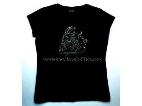10 Kozoroh dámské tričko s hot fix kamínky znamení zvěrokruhu Kozoroh