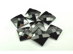hot-fix kameny epoxy ČTVEREC barva černá, velikost 20x20mm, balení 10 nebo 50ks