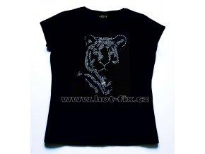 505 tygr dámské tričko s hot fix kamínkovým potiskem hot fix kameny