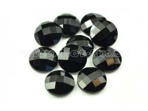 hot-fix kameny epoxy KULATÉ barva černá, velikost 15mm, balení 10 nebo 50ks