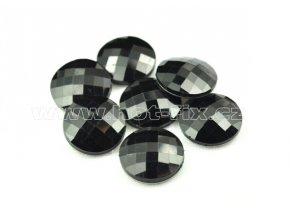 hot-fix kameny epoxy KULATÉ barva černá, velikost 18mm, balení 10 nebo 50ks