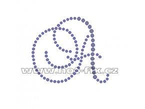 FM001 - písmena abecedy A-K - monogramy, nažehlovací hot-fix kamínkový potisk na textil, výška cca 7,0cm