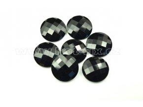 hot-fix kameny epoxy KULATÉ barva černá, velikost 21mm, balení 10 nebo 50ks