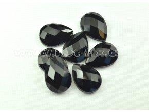hot-fix kameny epoxy SLZA barva černá, velikost 13x18mm, balení 10 nebo 50ks