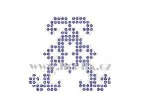 FM005 A monogram písmeno A nažehlovací kamínková aplikace na textil hot fix kamínky