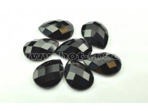 hot-fix kameny epoxy SLZA barva černá, velikost 18x25mm, balení 10 nebo 50ks