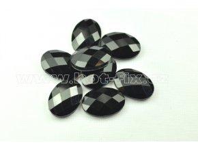 hot-fix kameny epoxy ELIPSA barva černá, velikost 13x18mm, balení 10 nebo 50ks