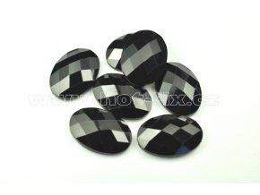 hot-fix kameny epoxy ELIPSA barva černá, velikost 18x25mm, balení 10 nebo 50ks