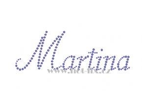 Martina jméno nažehlovací aplikace nažehlovací kamínkový potisk na textil hot fix kameny