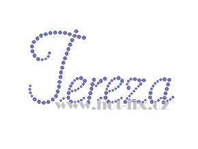 Tereza II. jméno nažehlovací aplikace nažehlovací kamínkový potisk na textil hot fix kameny